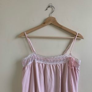 🌿Victoria Secret Pink Lace String Nightgown